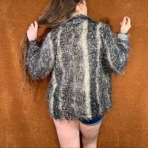 90s fuzzy blouse, size L